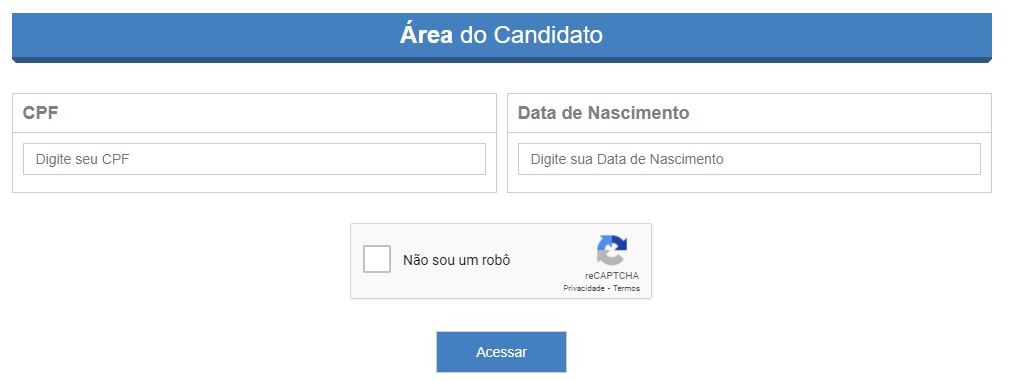 Área do Candidato Uninassau