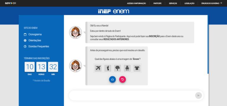 Página do Participante INEP