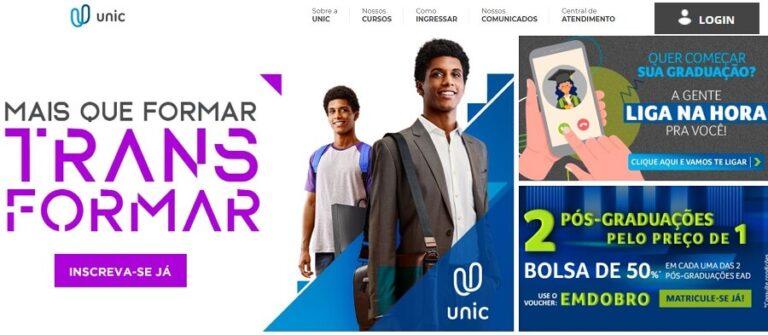 Portal do Aluno UNIC 2022